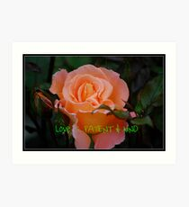 Calendar Rose - September Art Print