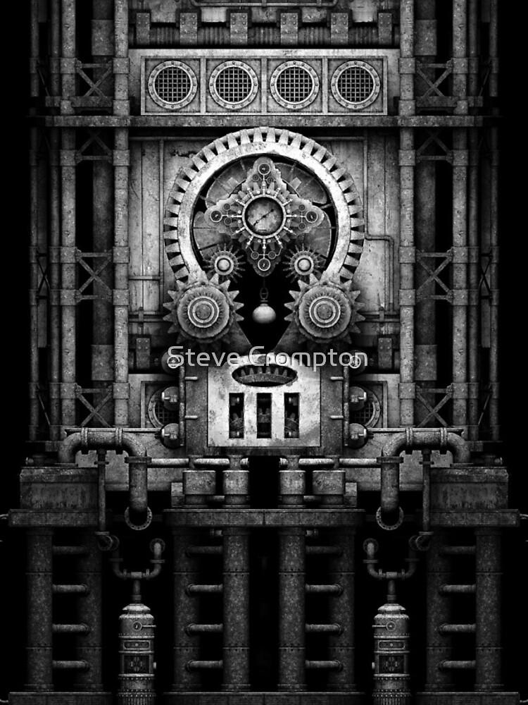 Infernal Steampunk Vintage Machine #3 Monochrome by SC001