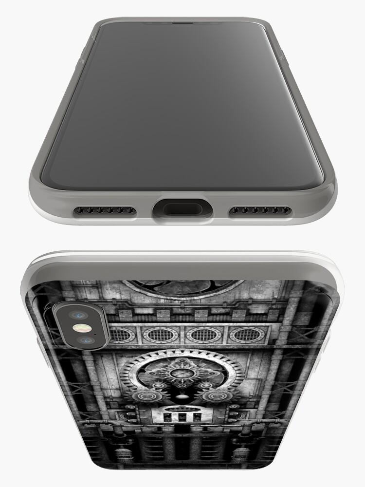 Alternate view of Infernal Steampunk Vintage Machine #3 Monochrome iPhone Case & Cover