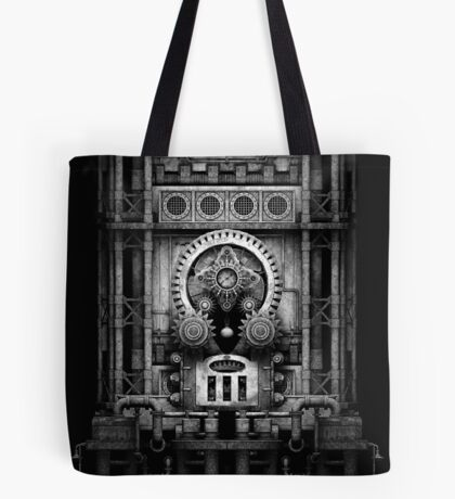 Infernal Steampunk Vintage Machine #3 Monochrome Tote Bag