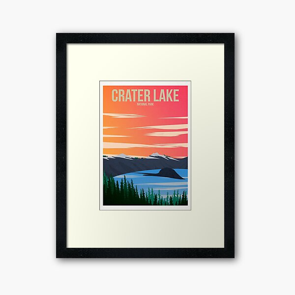 Crater Lake National Park Framed Art Print
