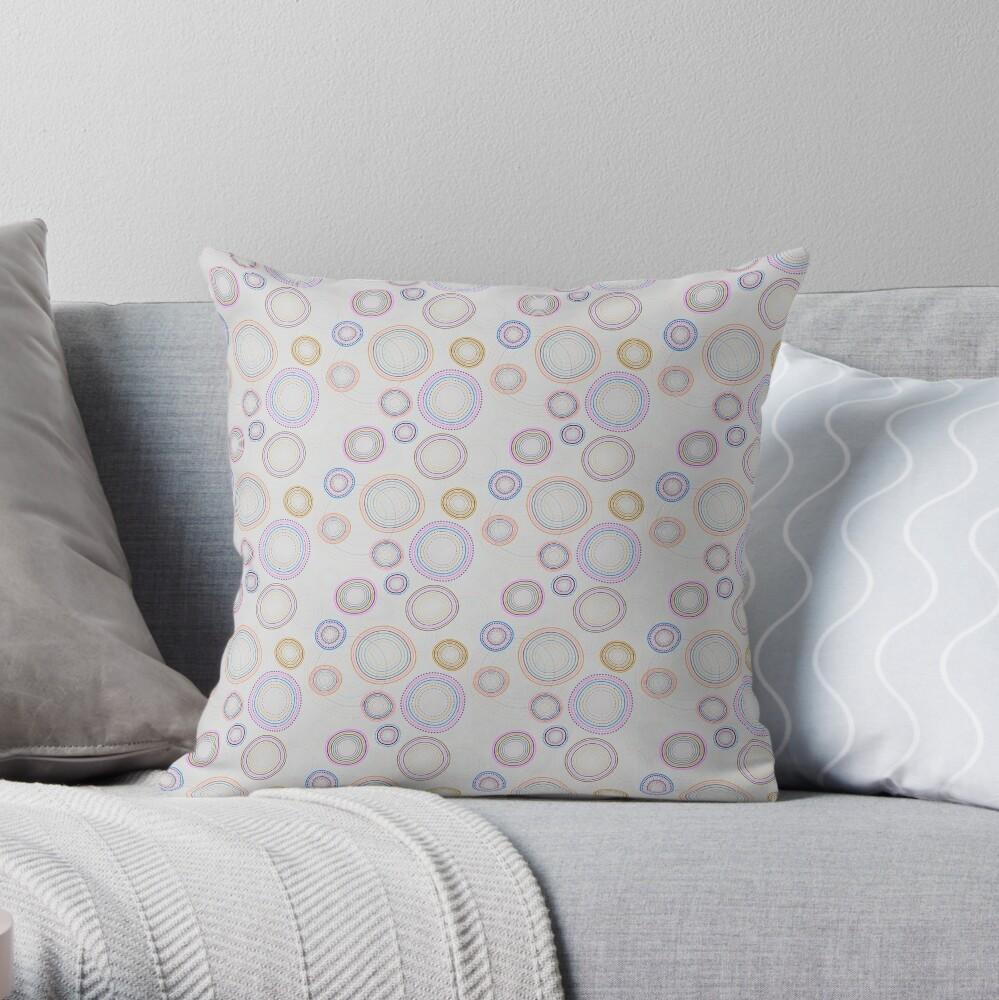Modern shapes,decorative circles Throw Pillow