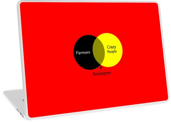 Beekeeping Venn Diagram Geek Funny Nerd Laptop Skins By Sayasiti