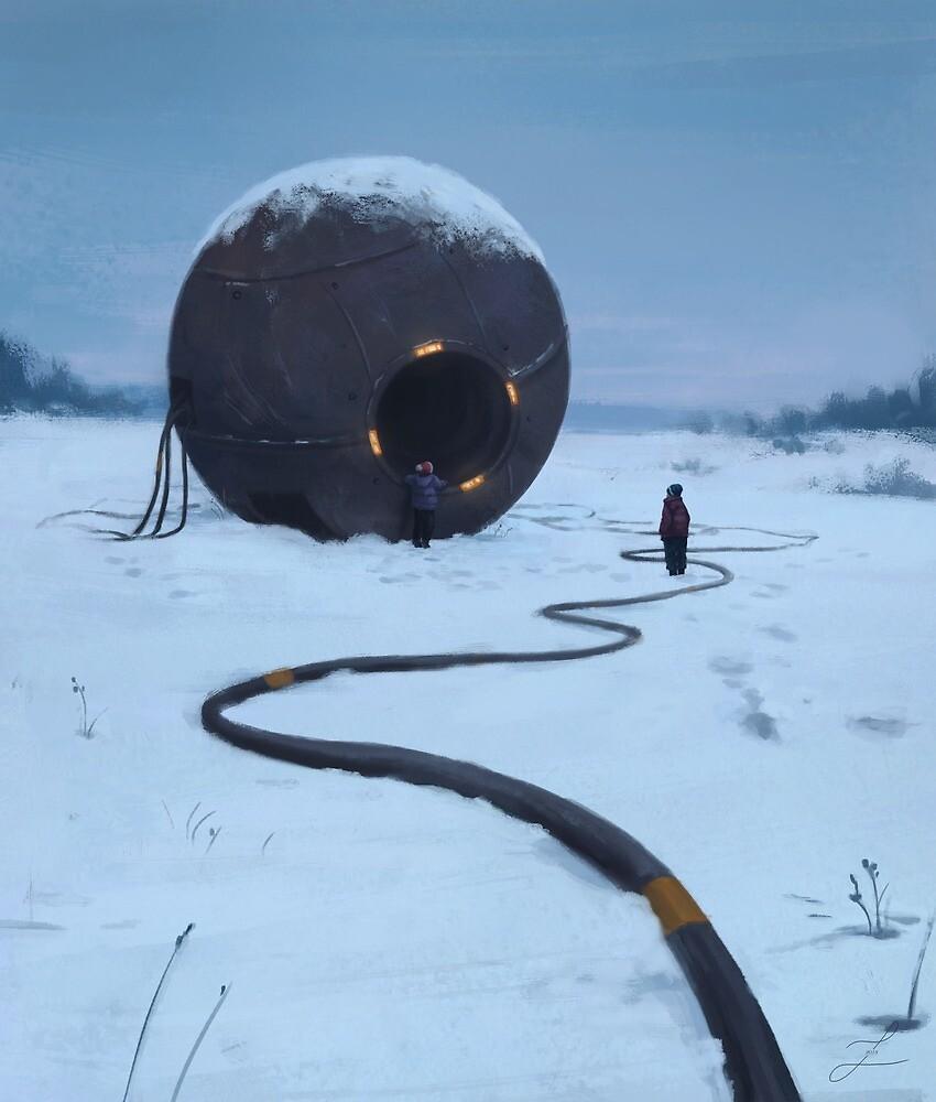 Snow field. by zarydoesart