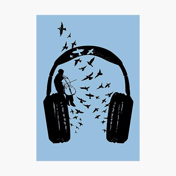 Headphone - Cello Photographic Print
