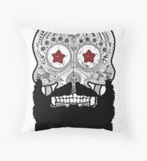 Skull Beard Throw Pillow