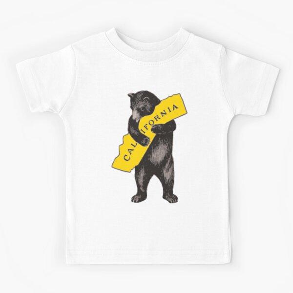 Vintage California Bear Hug Illustration Kids T-Shirt