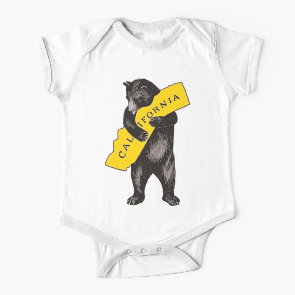 Vintage California Bear Hug Illustration Baby One-Piece