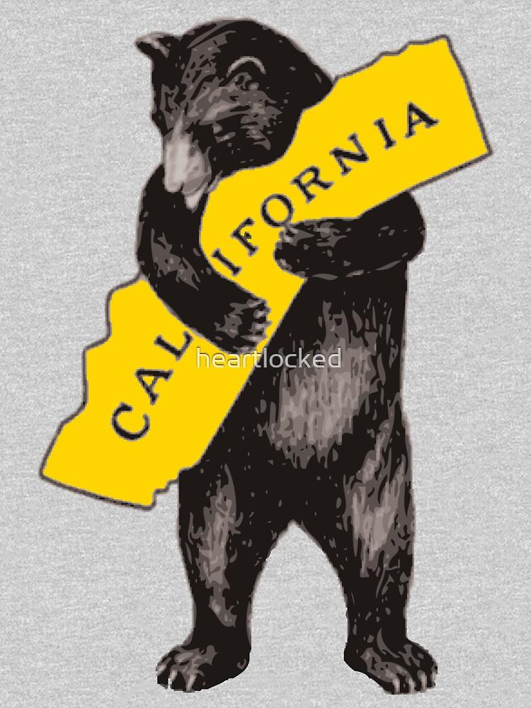 Vintage California Bear Hug Illustration by heartlocked