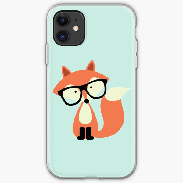 Cute Hipster Red Fox iPhone Soft Case