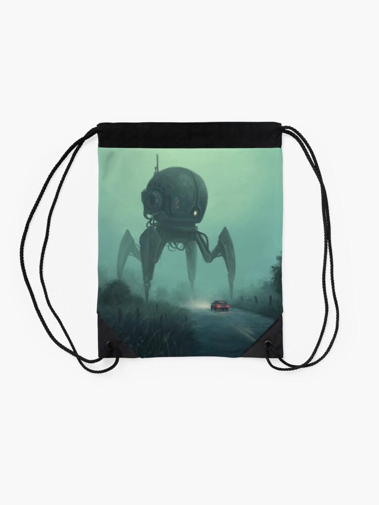 Alternate view of Unusual Tourist.  Drawstring Bag