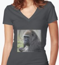 Motherly Instincts Women's Fitted V-Neck T-Shirt