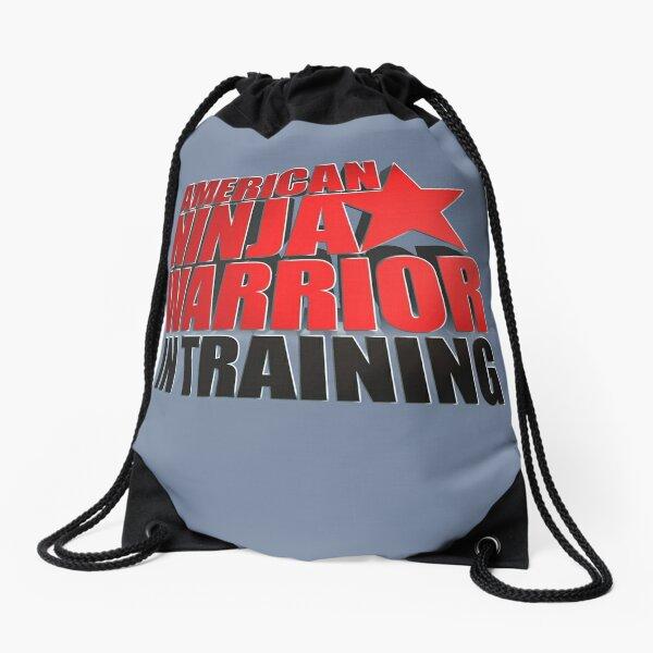 AMERICAN NINJA WARRIOR IN TRAINING Drawstring Bag