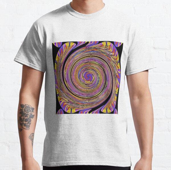 #Abstract, #twist, #vortex, #pattern, art, twirl, psychedelic, design, creativity, spiral, illustration, wave Classic T-Shirt