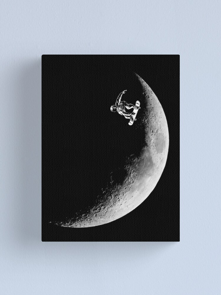 Alternate view of Moon boarder Canvas Print