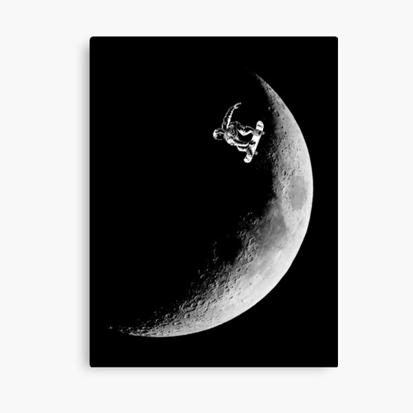Moon boarder Canvas Print