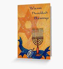 Warm Hanukkah Blessings Greeting Card
