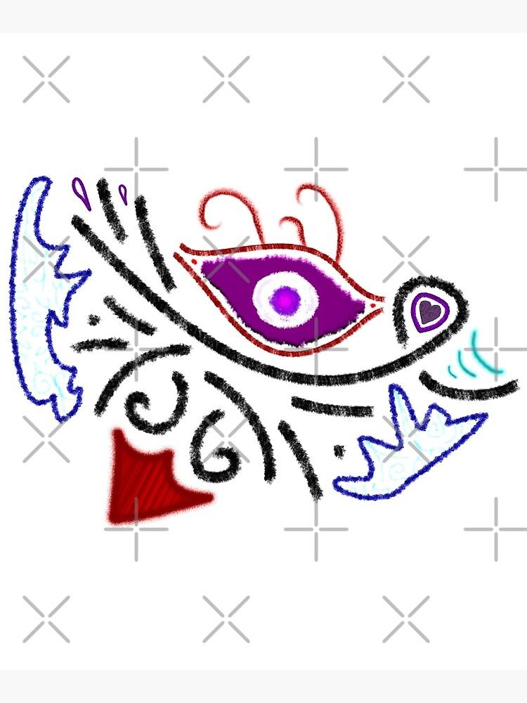 M.I. #1  ☼  Rustic Tribal Cyclops Insignia by Naean