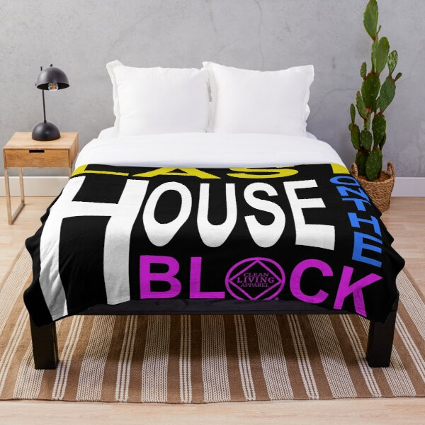 Last House On The Block Narcotics Anonymous 12 step recovery  Throw Blanket