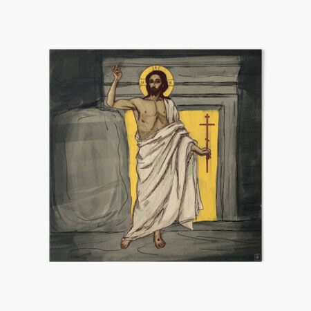 Resurrected Christ Art Board Print