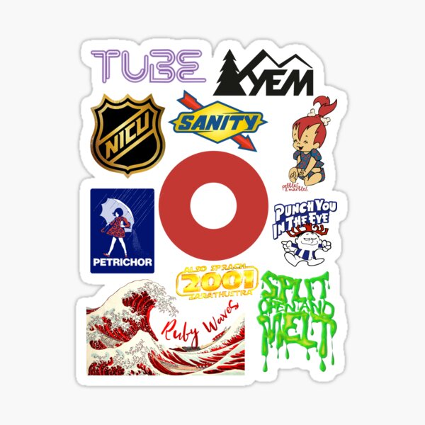 phish sticker sheet Sticker