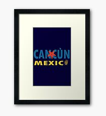 Cancun mexico graphic geek funny nerd Framed Print