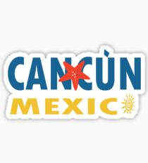 Cancun mexico graphic geek funny nerd Sticker
