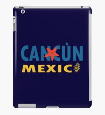 Cancun mexico graphic geek funny nerd iPad Case/Skin