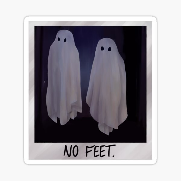 """""""No Feet."""" Sticker"""