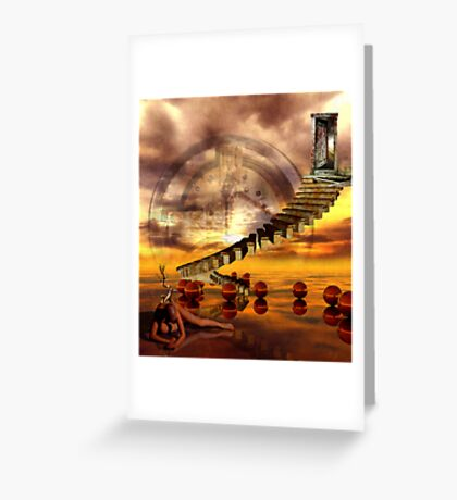 The burning state of entropy Greeting Card