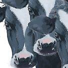 Dutch Cow Portrait by Wilfried van Dokkumburg