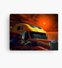 2008 Freightliner Coronado Semi Truck Canvas Print