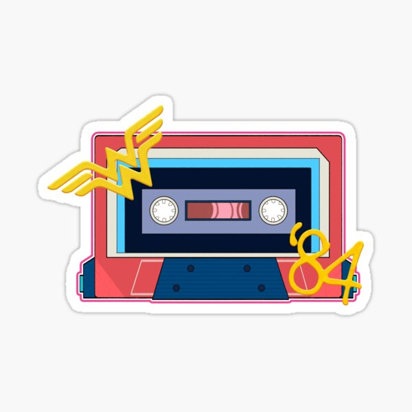 80's Wonder Hero Cassette Sticker
