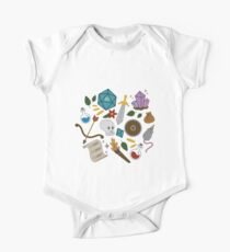 Dungeons and Dragons trinkets Short Sleeve Baby One-Piece