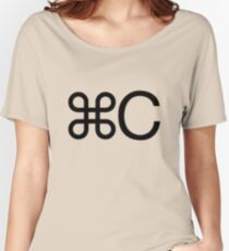 Copy apple c mac twin geek funny nerd Women's Relaxed Fit T-Shirt