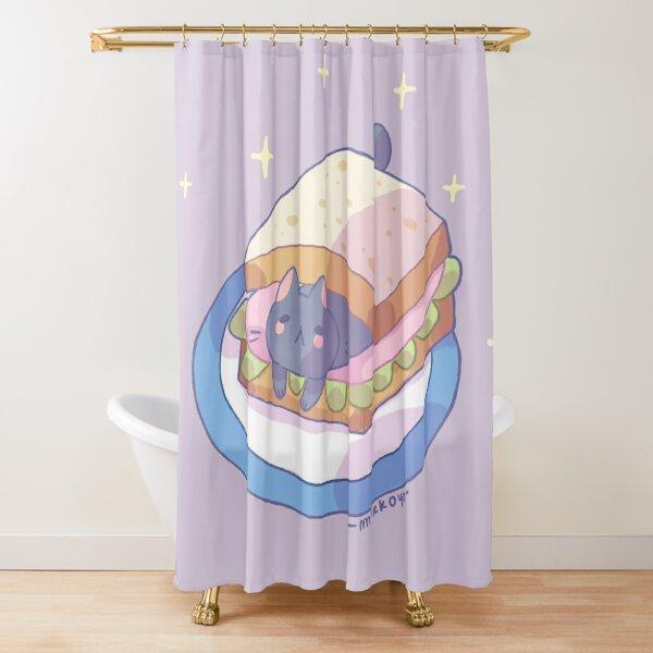 Sandwich cat Shower Curtain