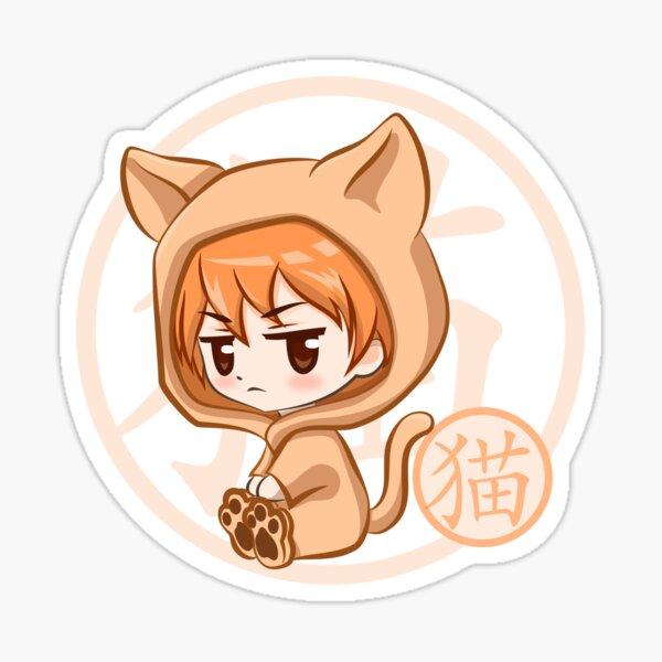 Chibi Kyo Cat Fruits Basket Sticker