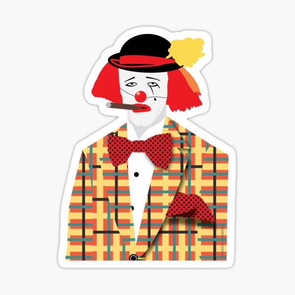 Roger Moore 007 Clown Sticker