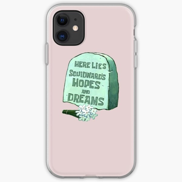 Spongebob Here Lies Squidward's Hopes and Dreams iPhone Soft Case