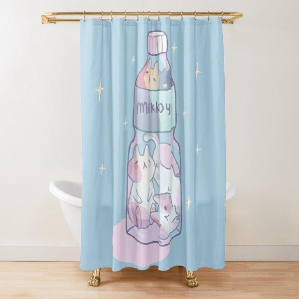 Bottle kittens Shower Curtain