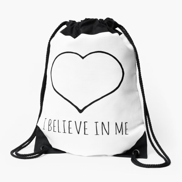 I believe in me heart Drawstring Bag