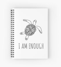 I am enough turtle Spiral Notebook