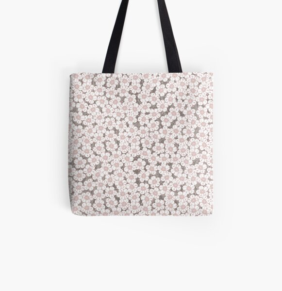 Hawthorn Blossom All Over Print Tote Bag