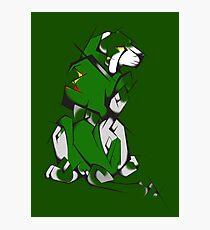 Green Voltron Lion Cubist Photographic Print