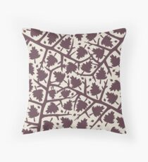 Hawthorn Tree pattern Throw Pillow