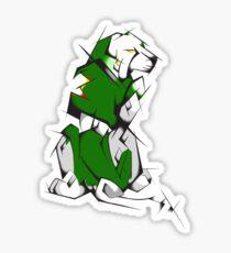 Green Voltron Lion Cubist Sticker