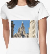 Royal Liver Building, Liverpool Women's Fitted T-Shirt