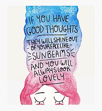 Good Thoughts Photographic Print