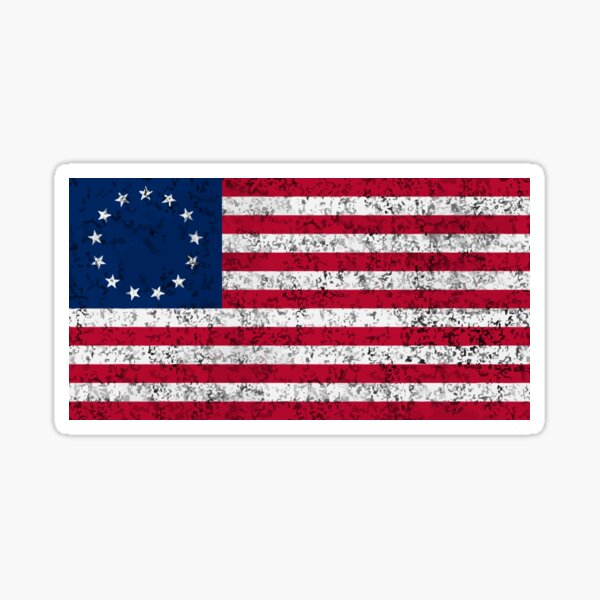 Distressed Betsy Ross Flag  Sticker