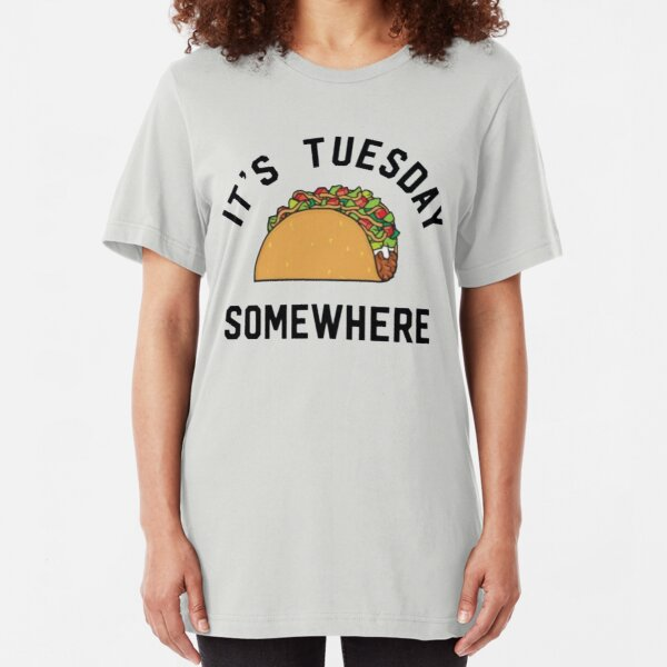 LeBron James Taco Tuesday It's Tuesday Somewhere Slim Fit T-Shirt